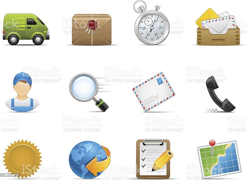 Delivery Icon Set | Optima Series vector art illustration