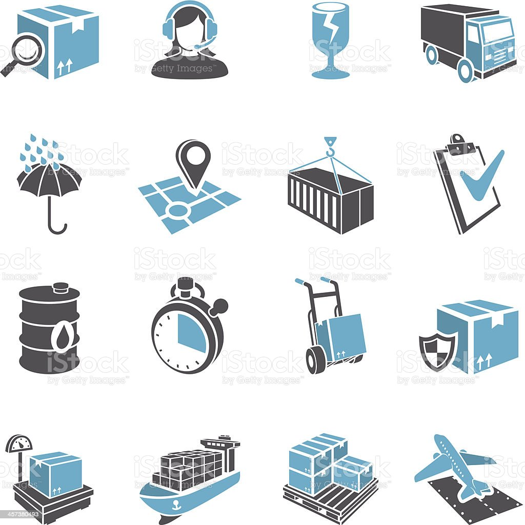 3D Delivery Icon Set vector art illustration