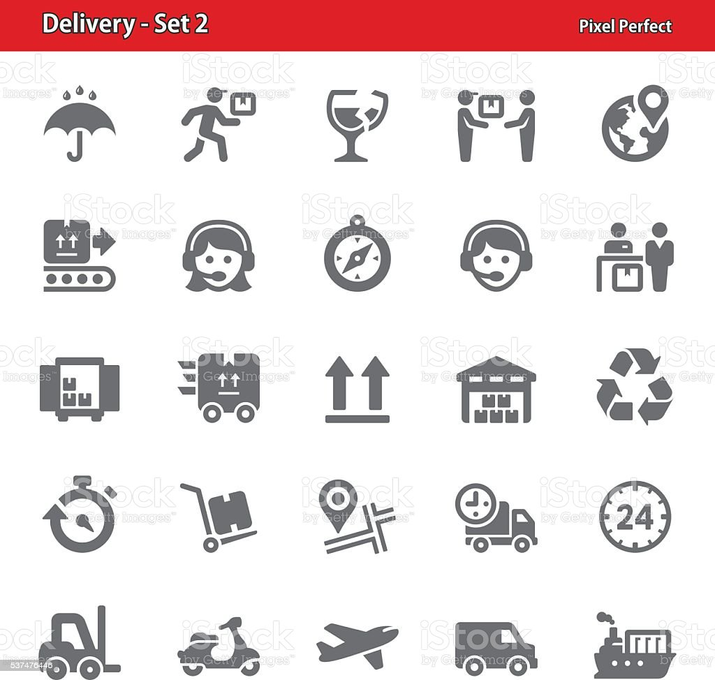 Delivery Icons - Set 2 vector art illustration