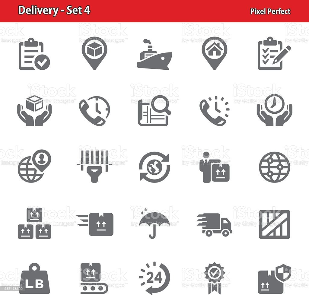 Delivery Icons - Set 4 vector art illustration