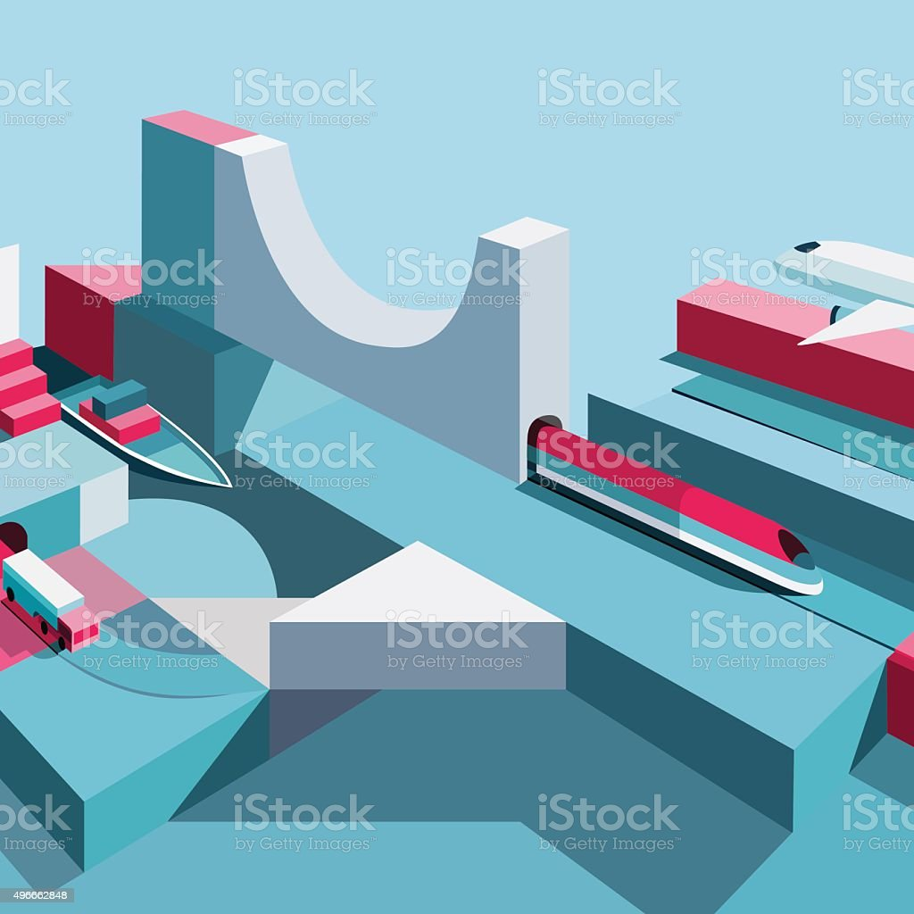 Delivery Industry. Shipping company, By plane. royalty-free stock vector art