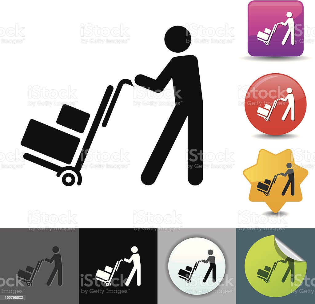 Delivery man icon | solicosi series royalty-free stock vector art