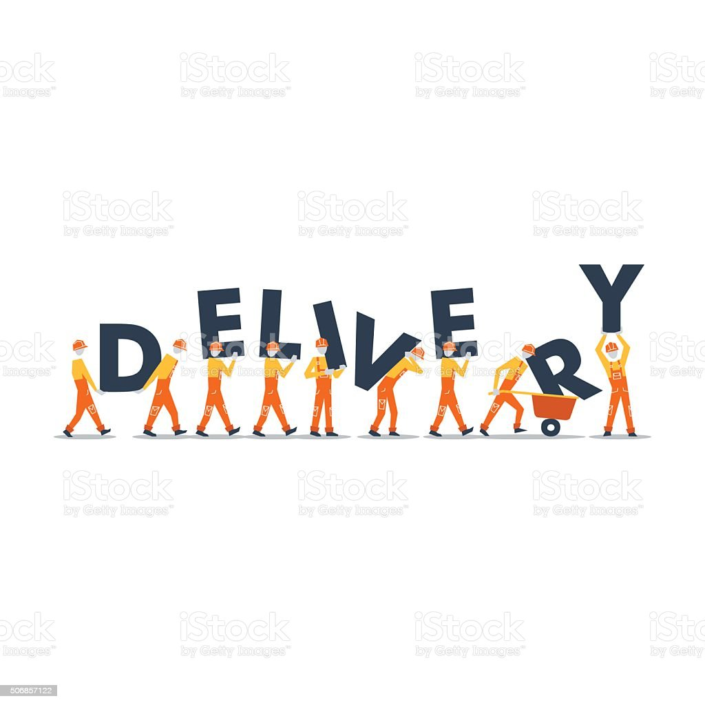 Delivery men vector art illustration