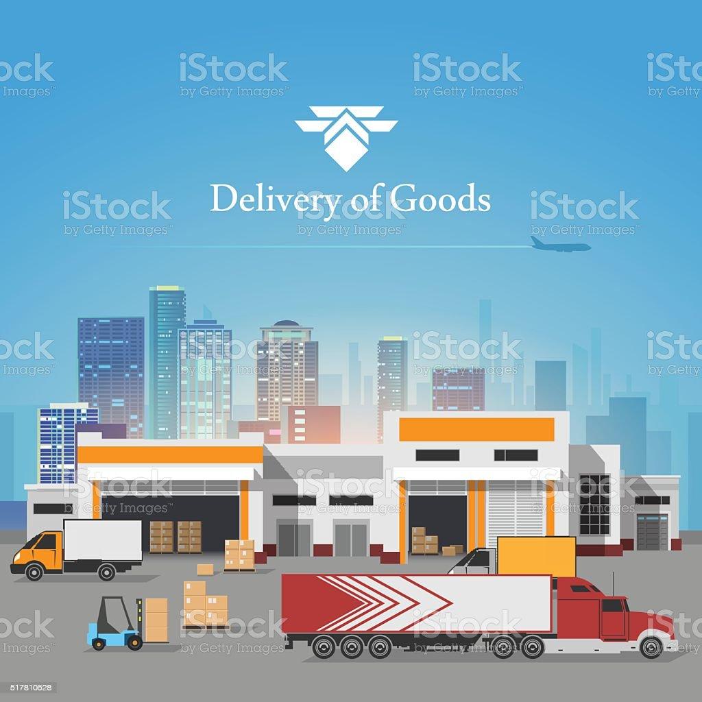 Delivery of goods illustration vector art illustration