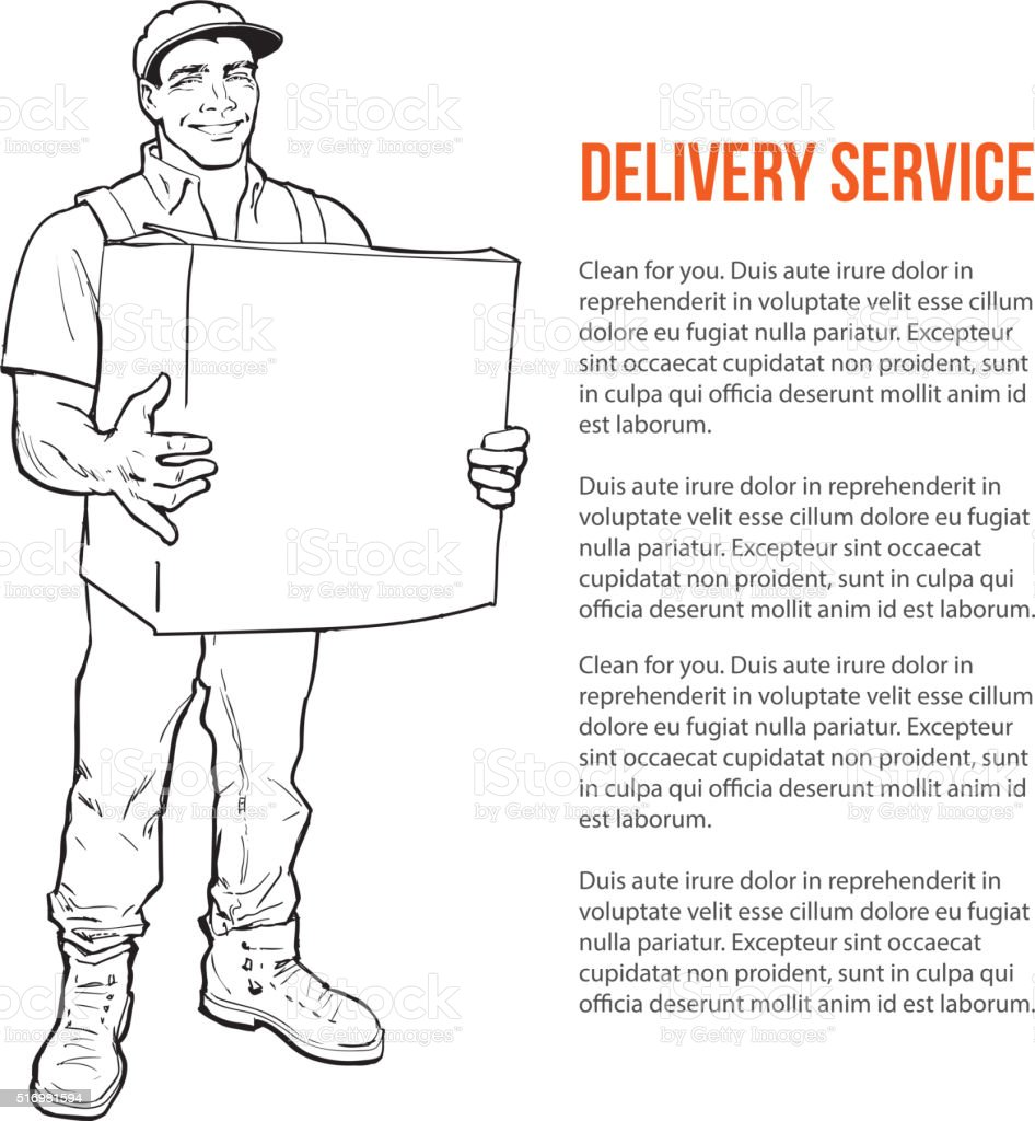 Delivery of goods. Moving Companies vector art illustration