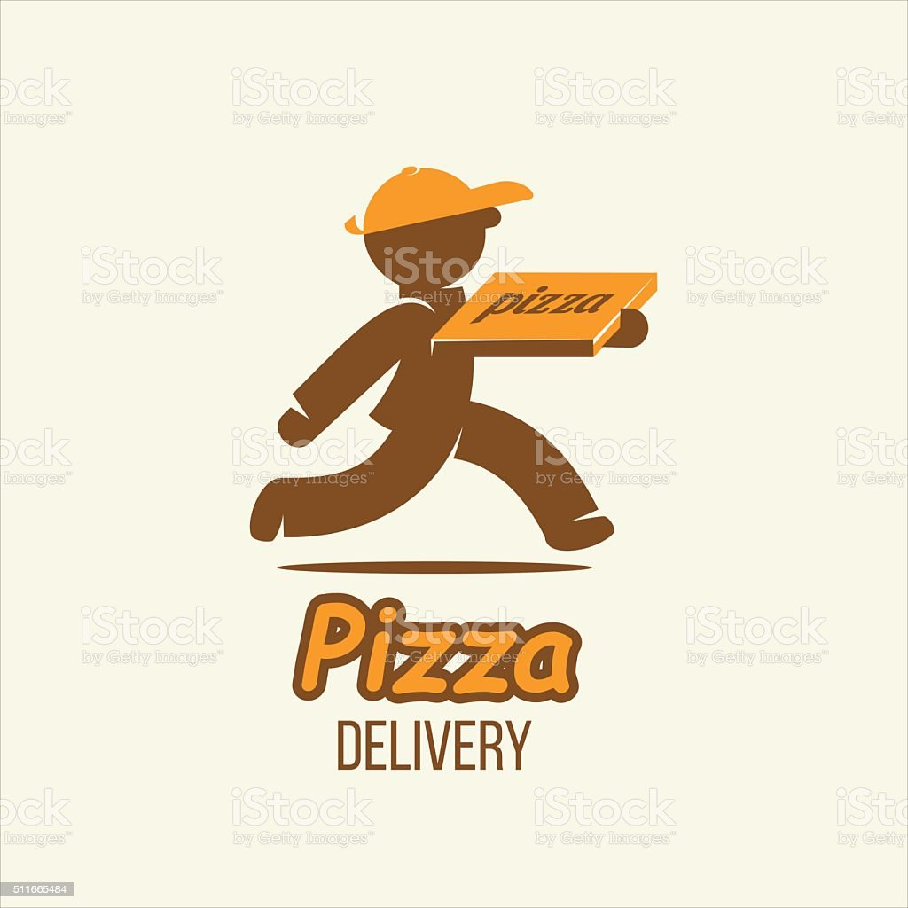 Delivery. Pizza delivery. Vector  sign. vector art illustration