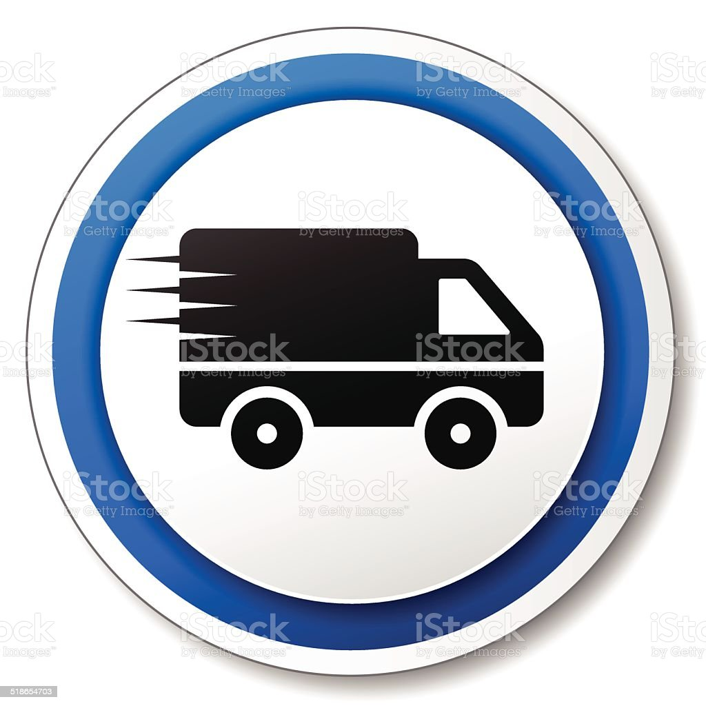 delivery roud icon vector art illustration