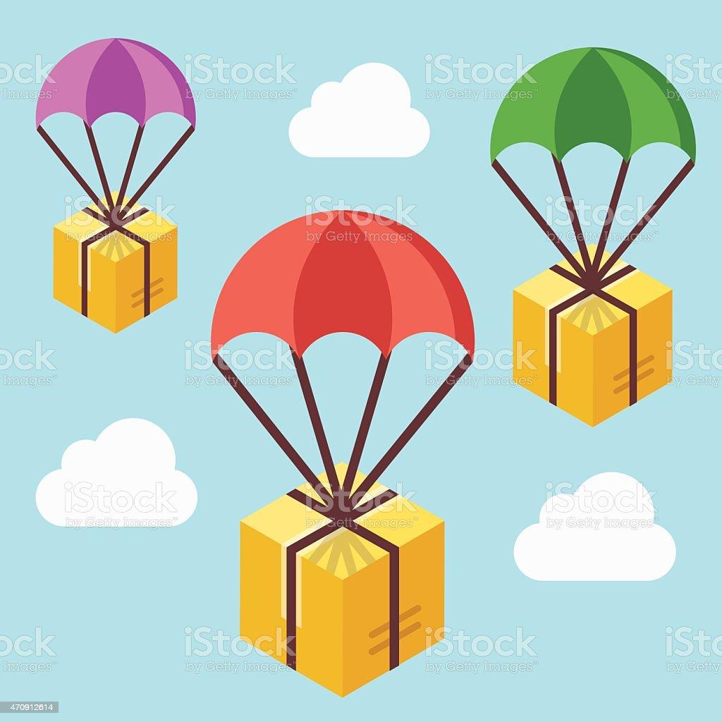 Delivery service concept. Colorful vector illustration vector art illustration