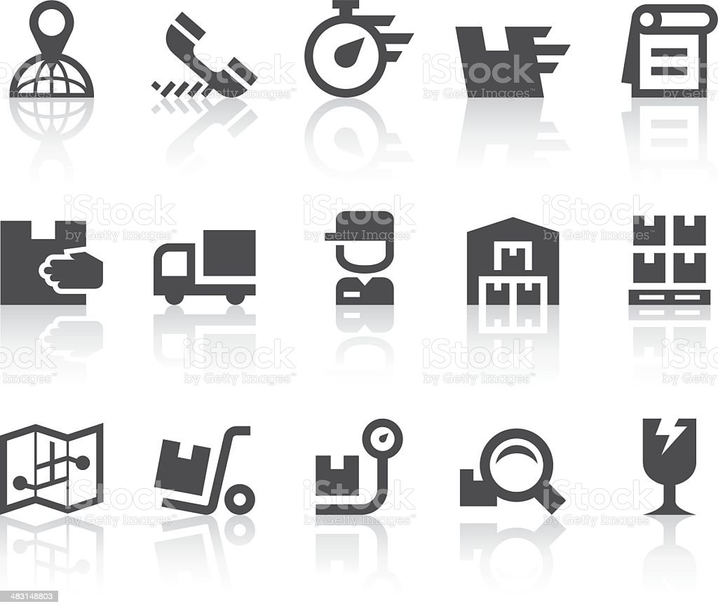 Delivery Service Icons | Simple Black Series vector art illustration