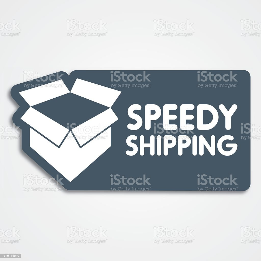 Delivery service label vector art illustration
