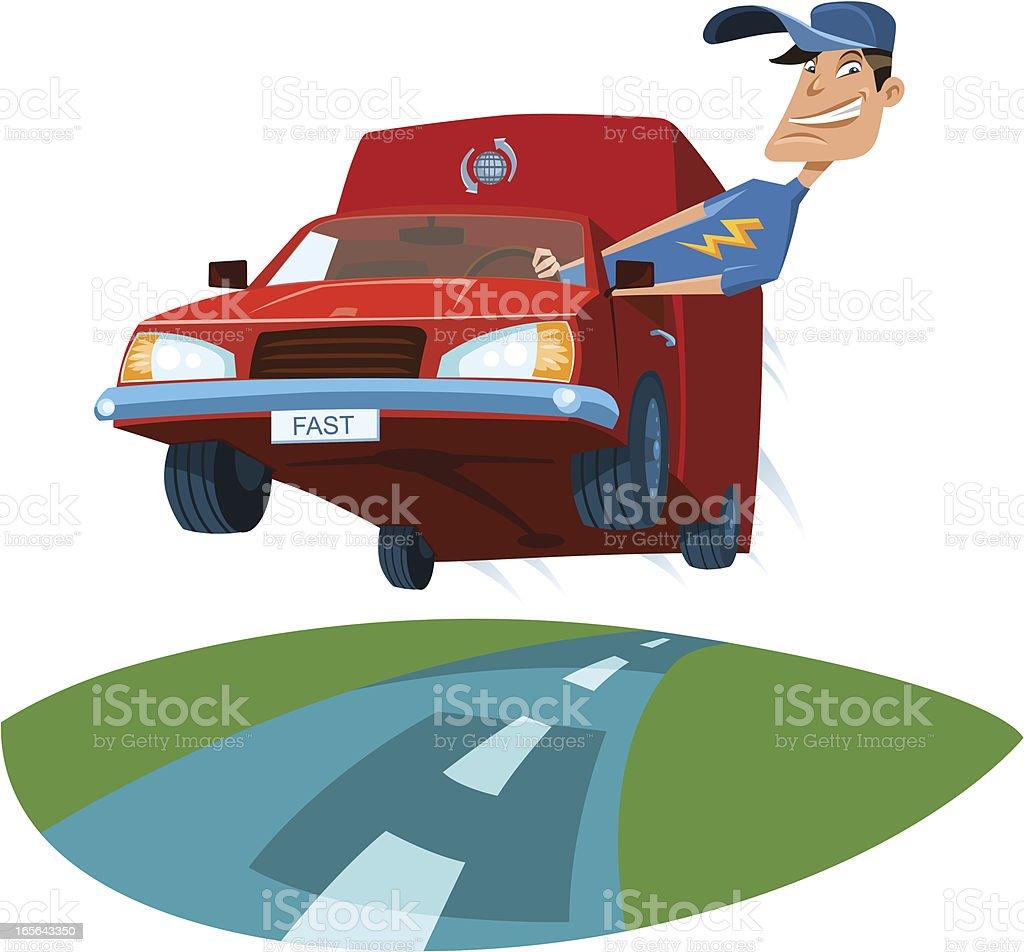 Delivery Service vector art illustration
