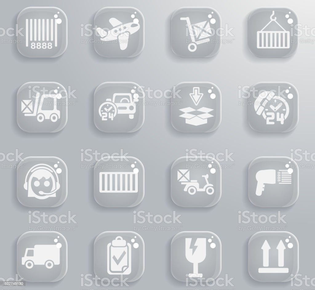 Delivery simply icons vector art illustration
