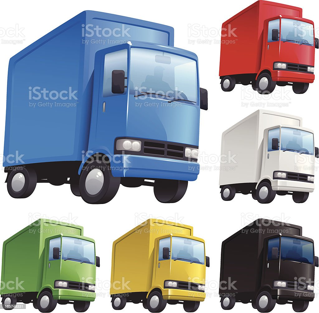 Delivery Truck Colours vector art illustration