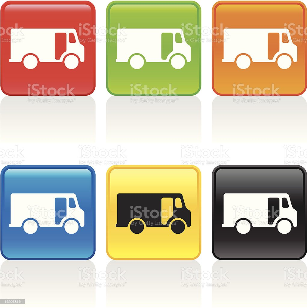 Delivery Truck Icon royalty-free stock vector art
