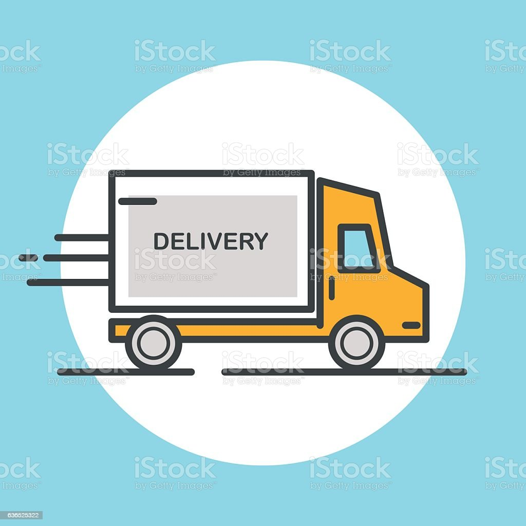 Delivery truck icon. vector art illustration