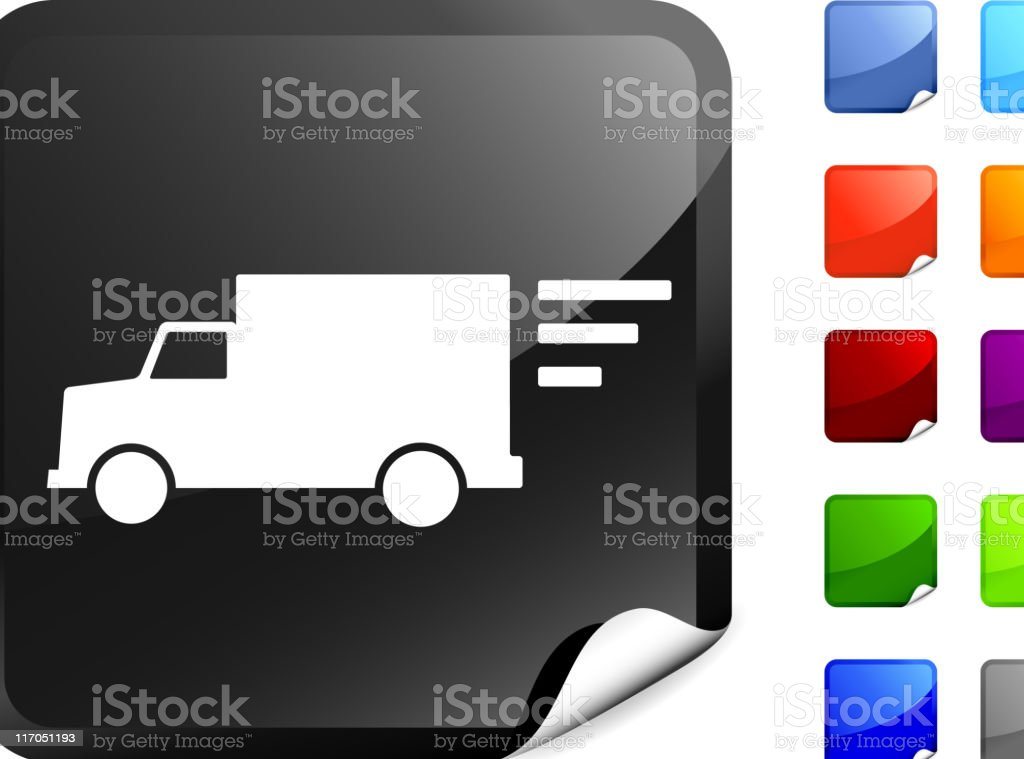 delivery truck internet royalty free vector art royalty-free stock vector art
