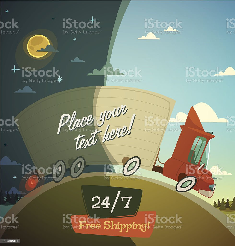 Delivery truck. Shipping concept. royalty-free stock vector art