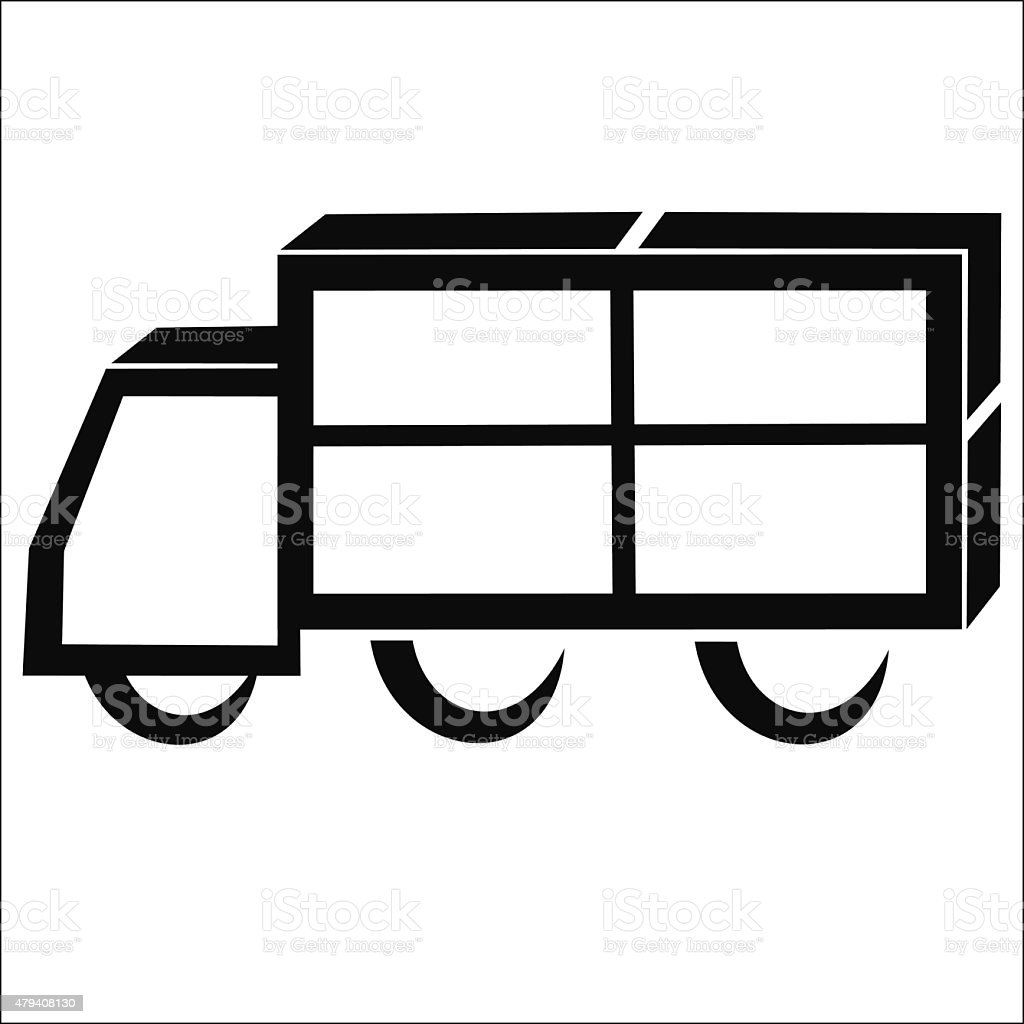 Delivery truck symbol royalty-free stock vector art
