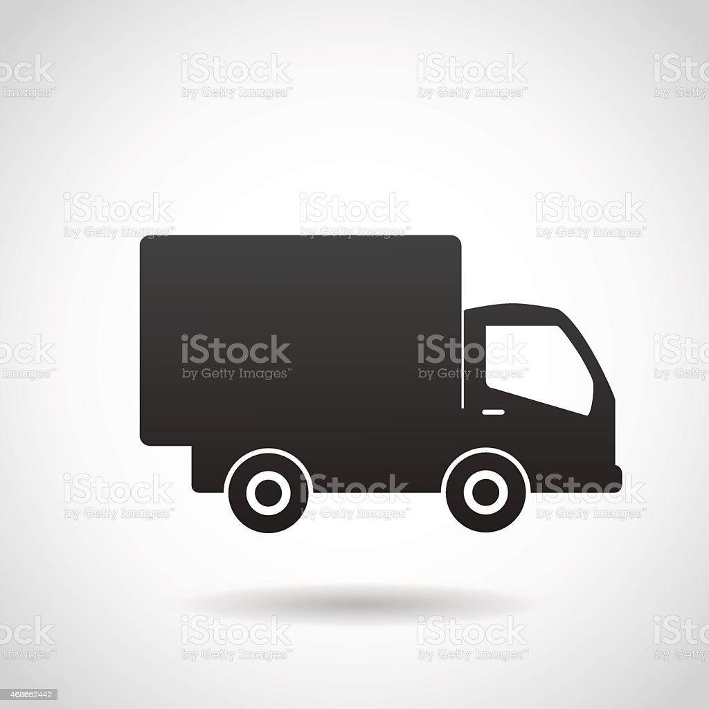 Delivery truck vector icon. vector art illustration