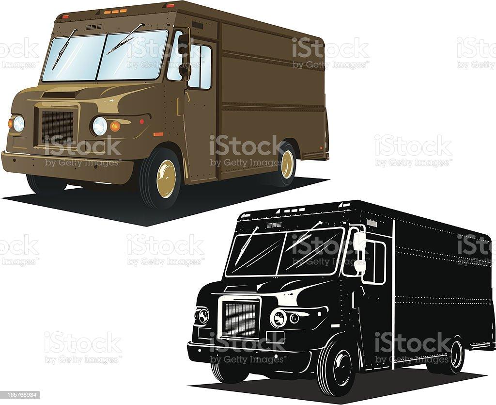 Delivery Truck vector art illustration