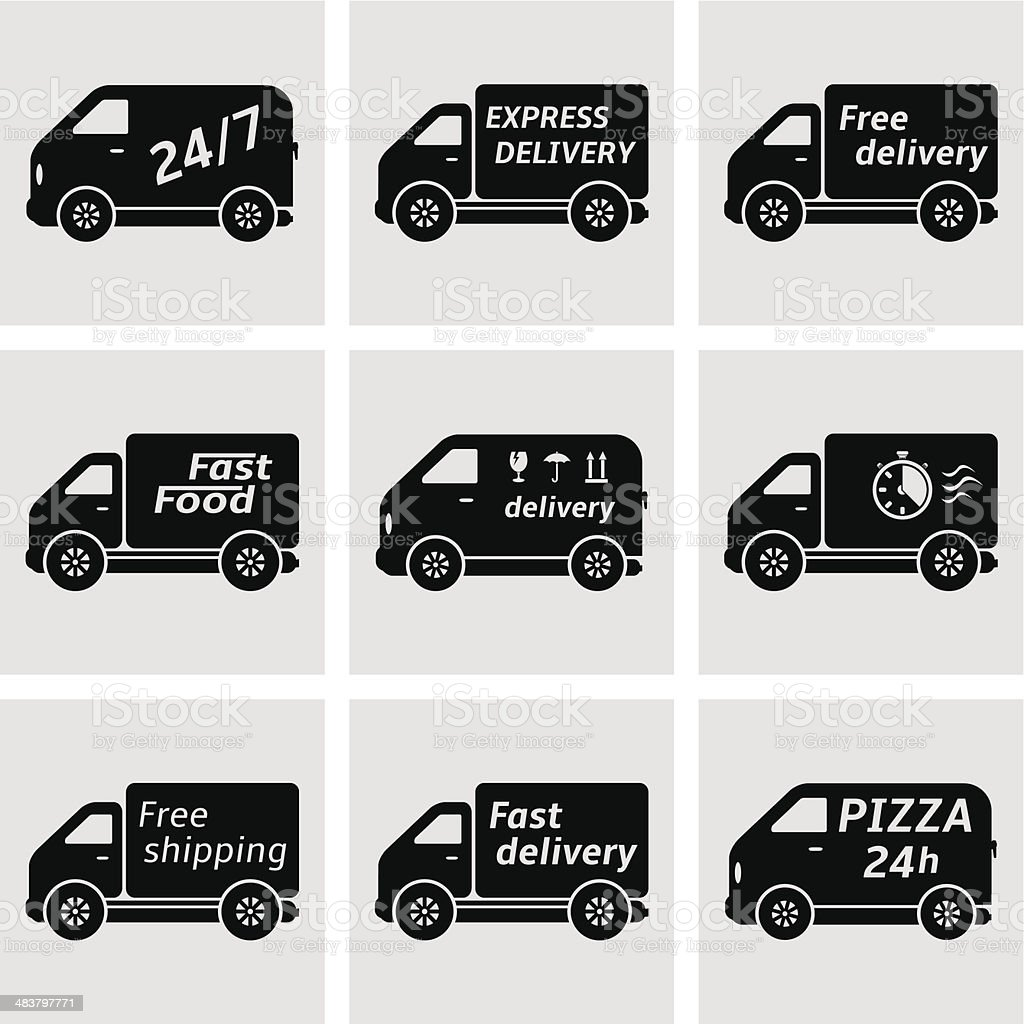Delivery trucks. vector art illustration
