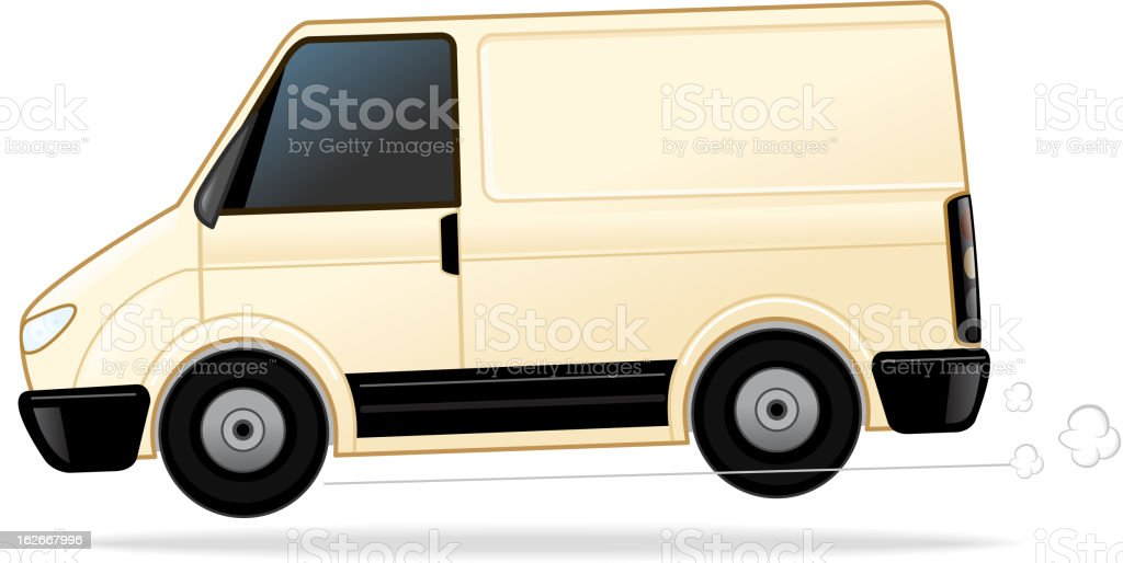 Delivery Van royalty-free stock vector art