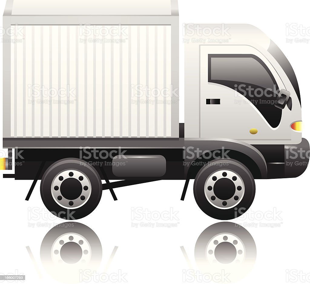 Delivery Van vector art illustration