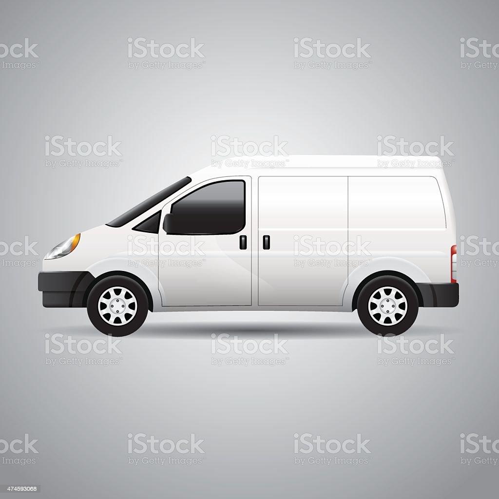 Delivery Van - Vector vector art illustration