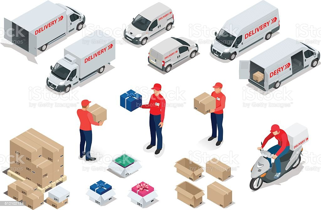 delivery vector art illustration