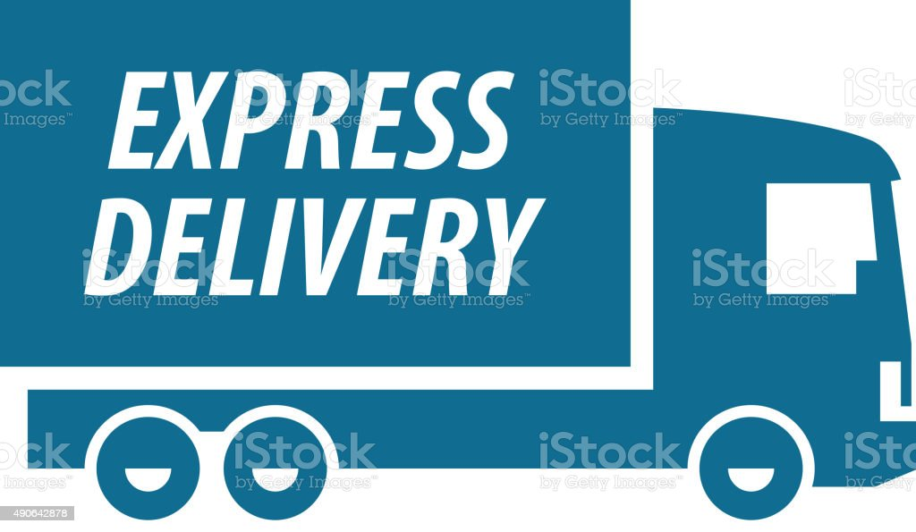 delivery vector logo design template. transport or truck icon vector art illustration