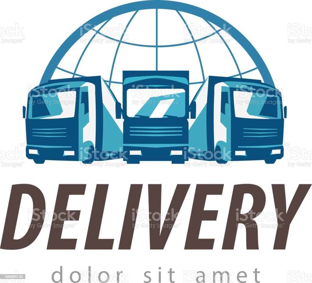 delivery vector logo design template. truck or transport icon vector art illustration