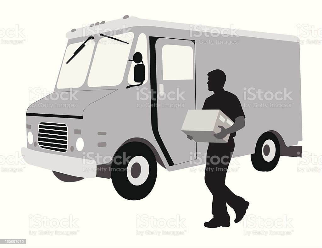 Delivery Vector Silhouette royalty-free stock vector art
