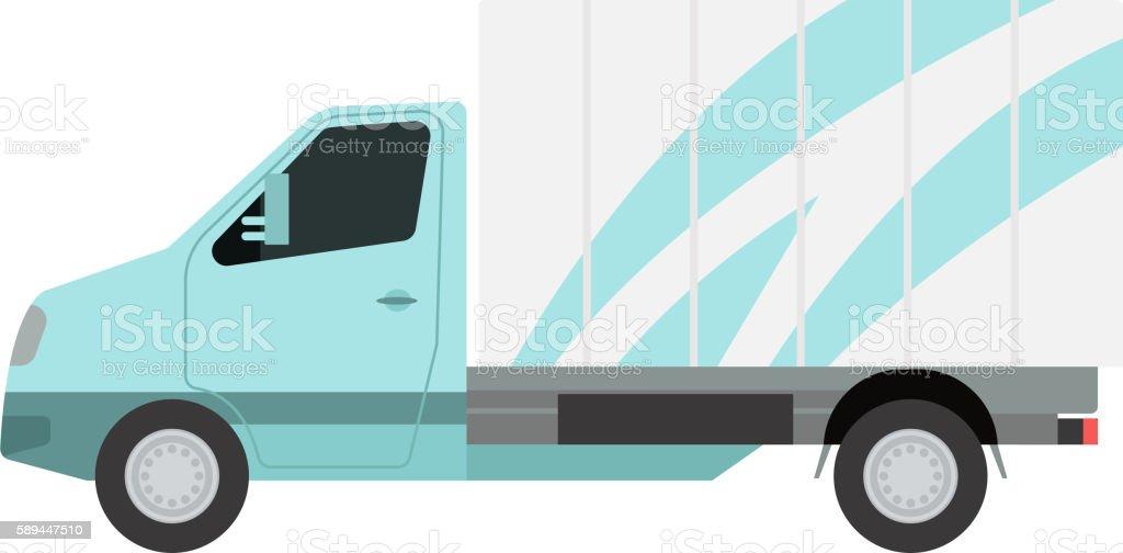 Delivery vector transport truck van vector art illustration
