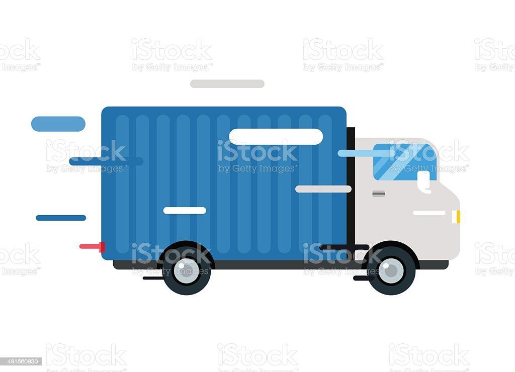 Delivery vector truck. service van silhouette vector art illustration