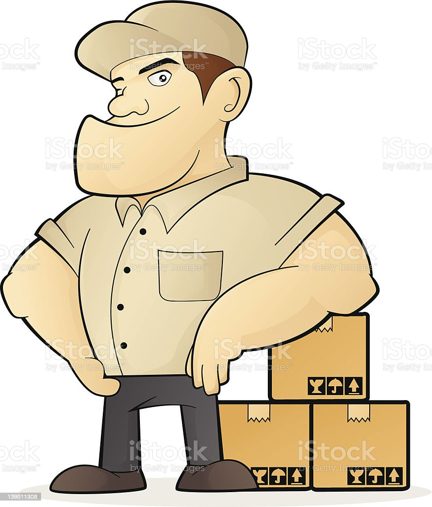 Deliveryman vector art illustration