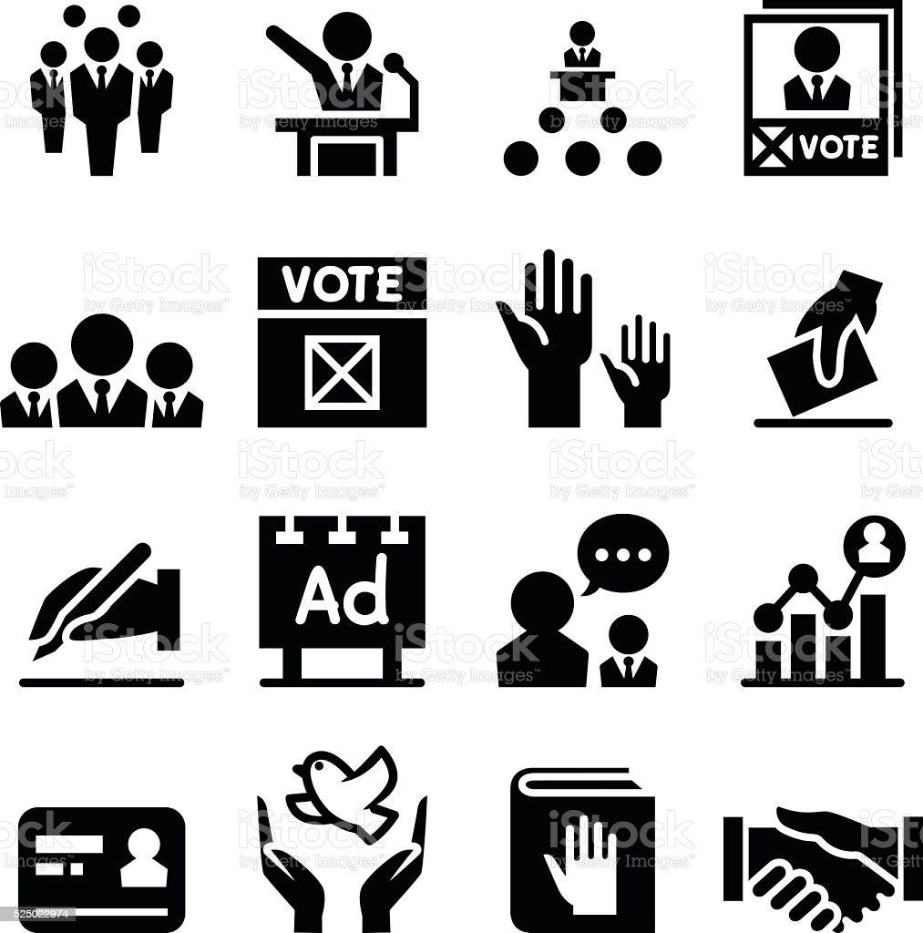 Democracy & election icon vector art illustration