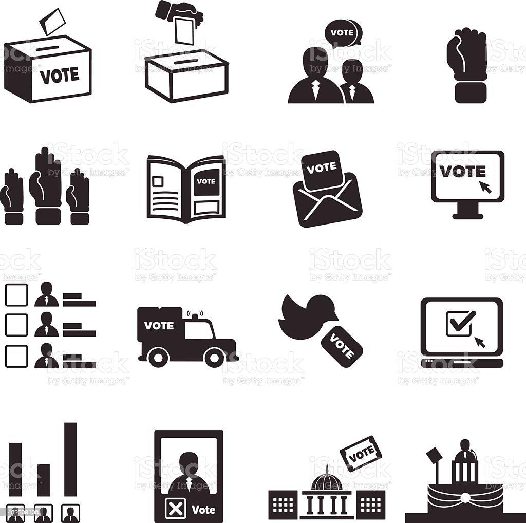 democracy icons vector art illustration