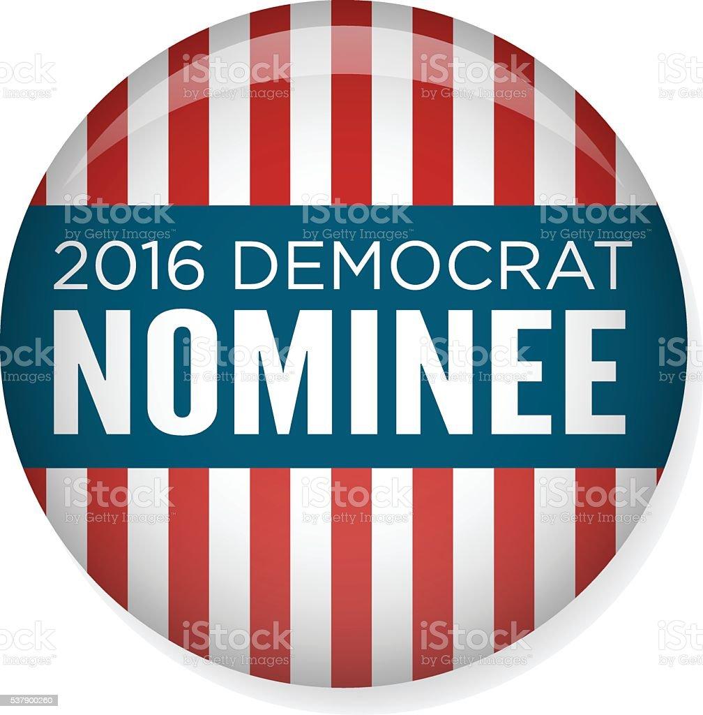 2016 Democrat Voting Campaign Election Pin vector art illustration