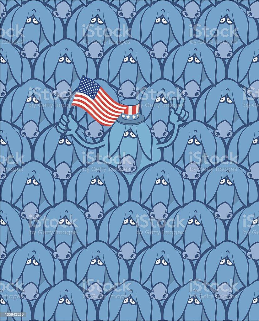 Democratic donkey royalty-free stock vector art