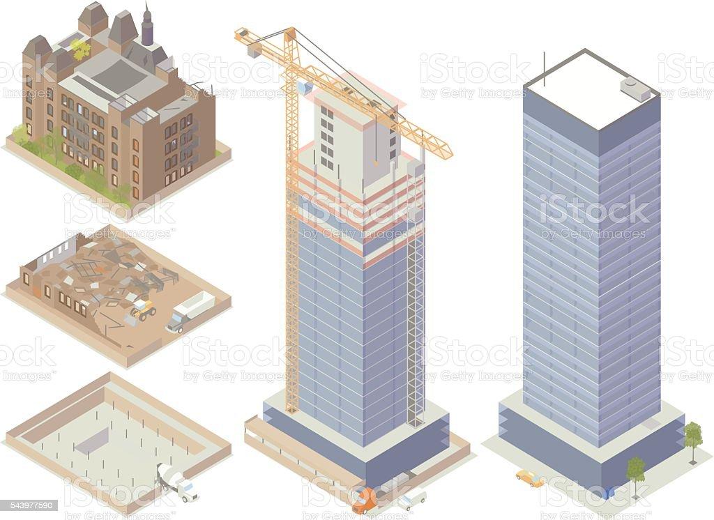 Demolition and Construction Illustration vector art illustration