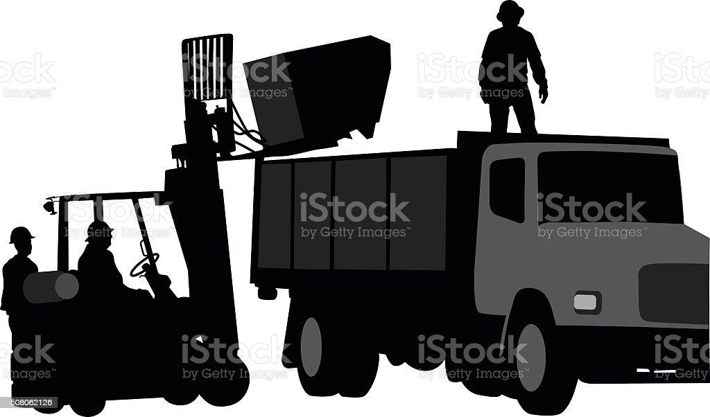 Demolition Cleanup vector art illustration