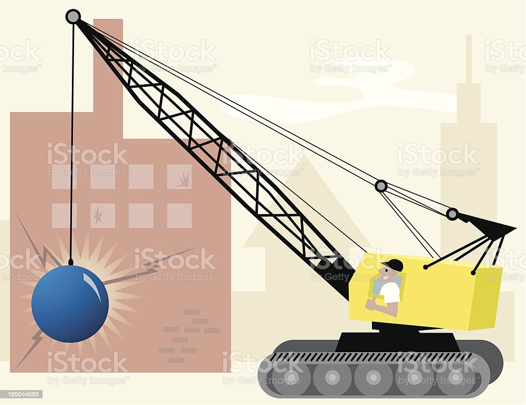 Demolition Man royalty-free stock vector art