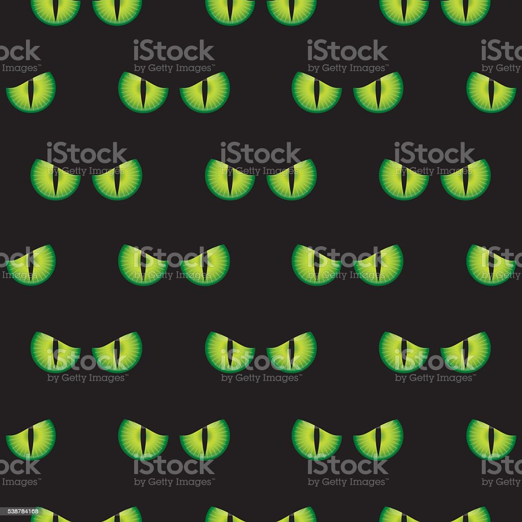 Demon Eyes Pattern vector art illustration