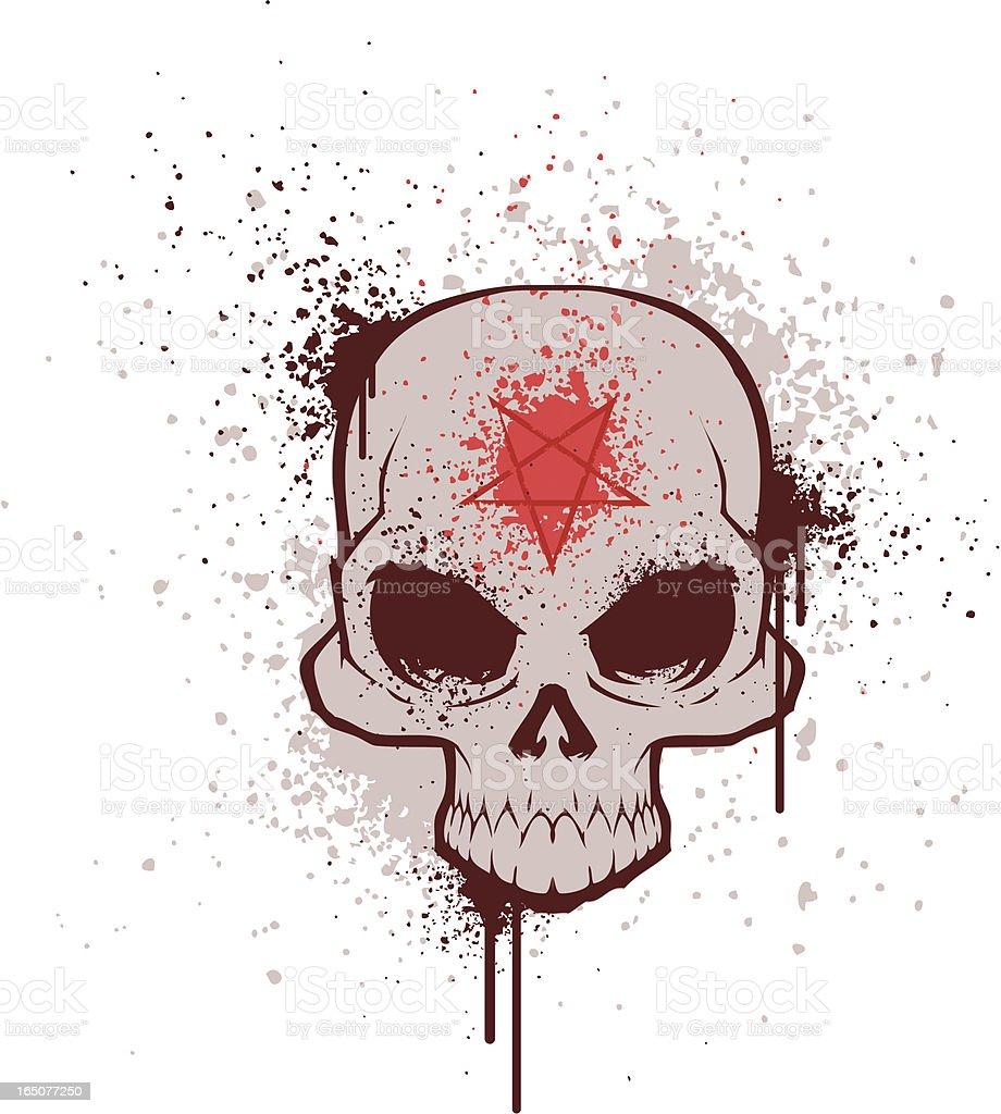 demon skull royalty-free stock vector art