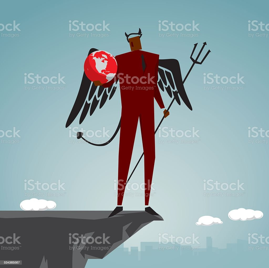 Demon vector art illustration