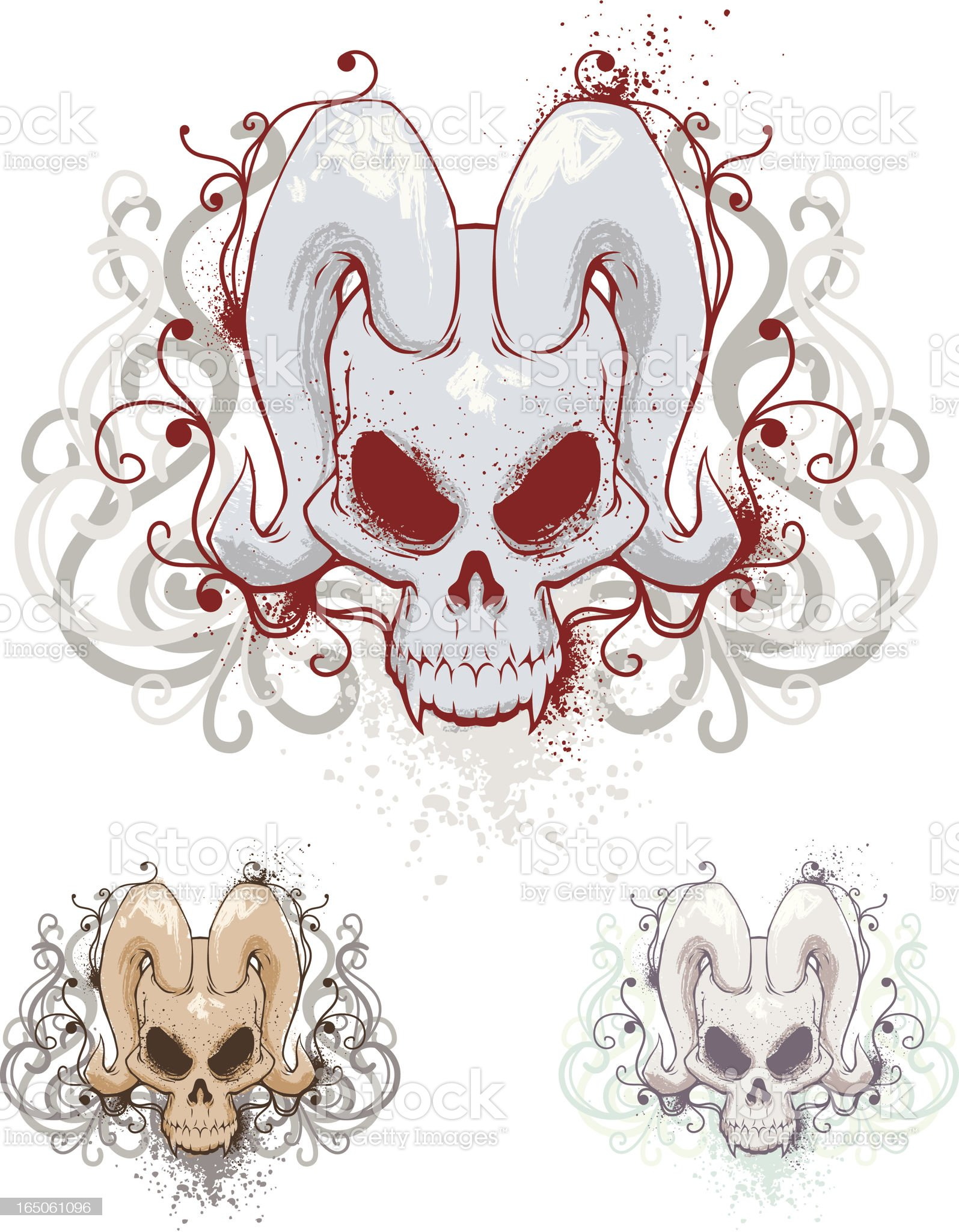 Demonic Skull royalty-free stock vector art