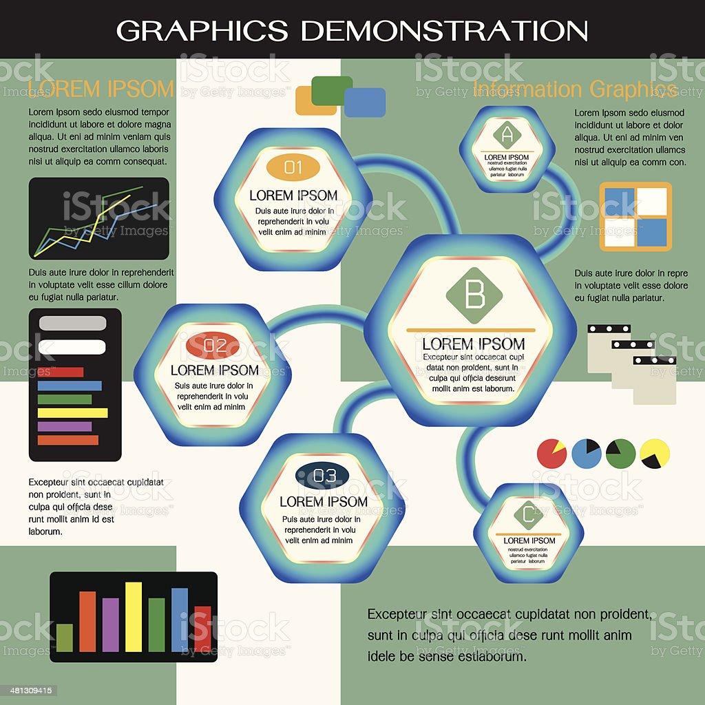 Demostration Graphics vector art illustration