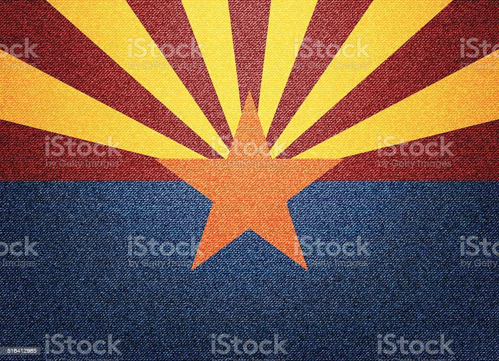 Denim Arizona flag vector art illustration