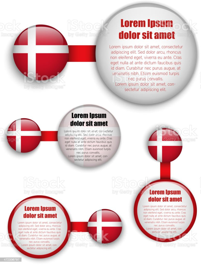 Denmark Country Set of Banners royalty-free stock vector art