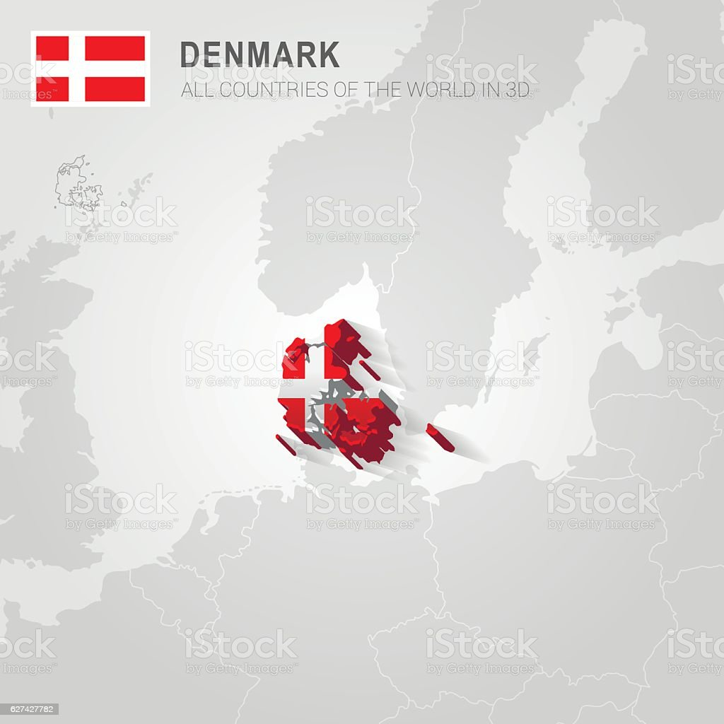 Denmark Europe Administrative Map stock vector art 627427782 iStock